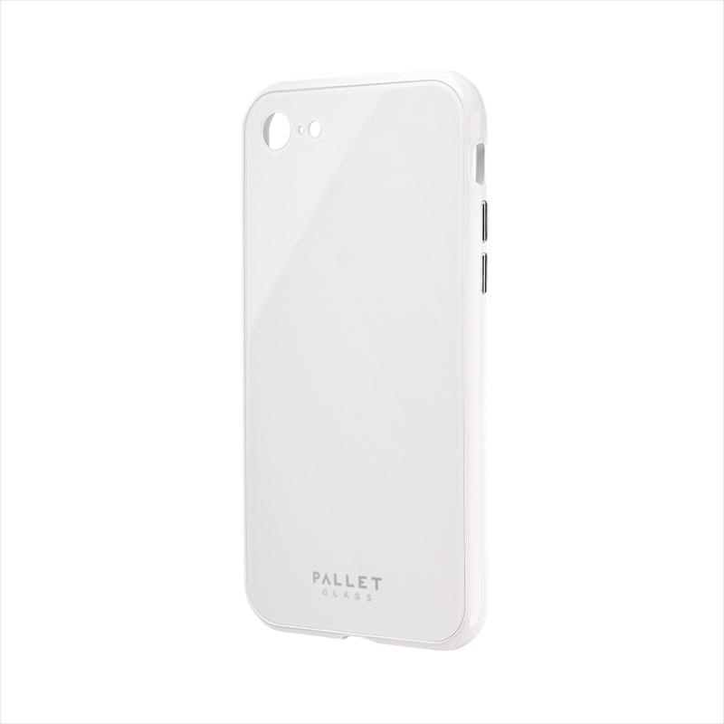 iPhone SE (第2世代)/8/7 ガラスハイブリッドケース「PALLET GLASS」 ホワイト