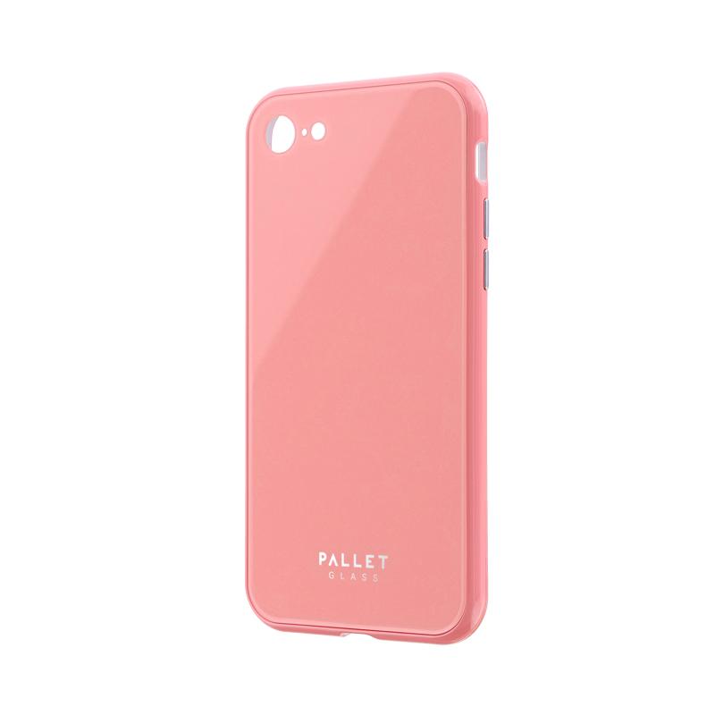 iPhone SE (第2世代)/8/7 ガラスハイブリッドケース「PALLET GLASS」 ピンク
