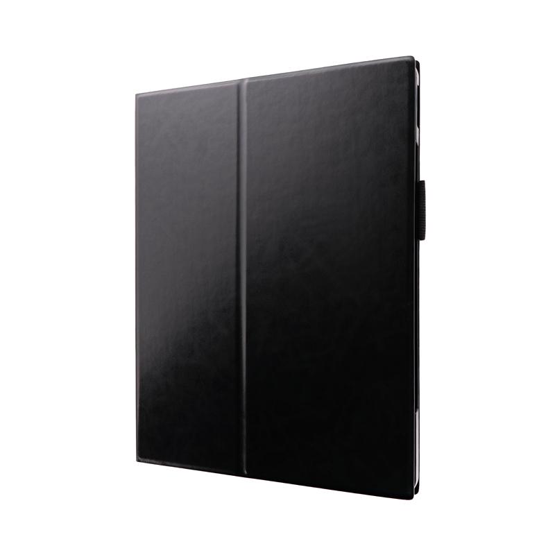 iPad Pro 2020 (12.9inch) 薄型PUレザーフラップケース「PRIME」 ブラック