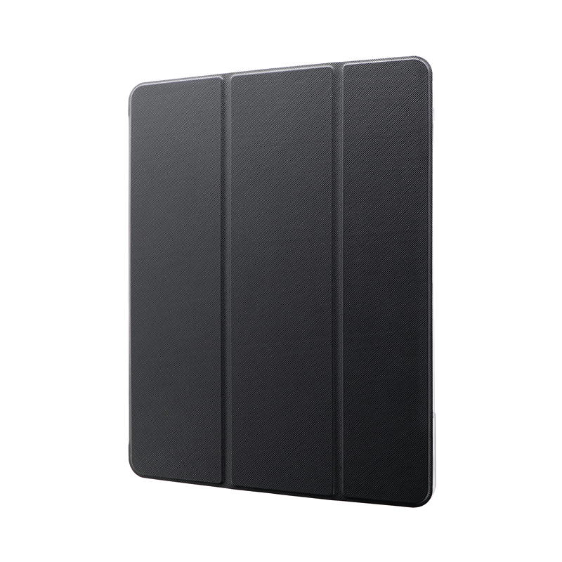 iPad Pro 2020 (12.9inch) 背面クリアフラップケース「Clear Note」 ブラック