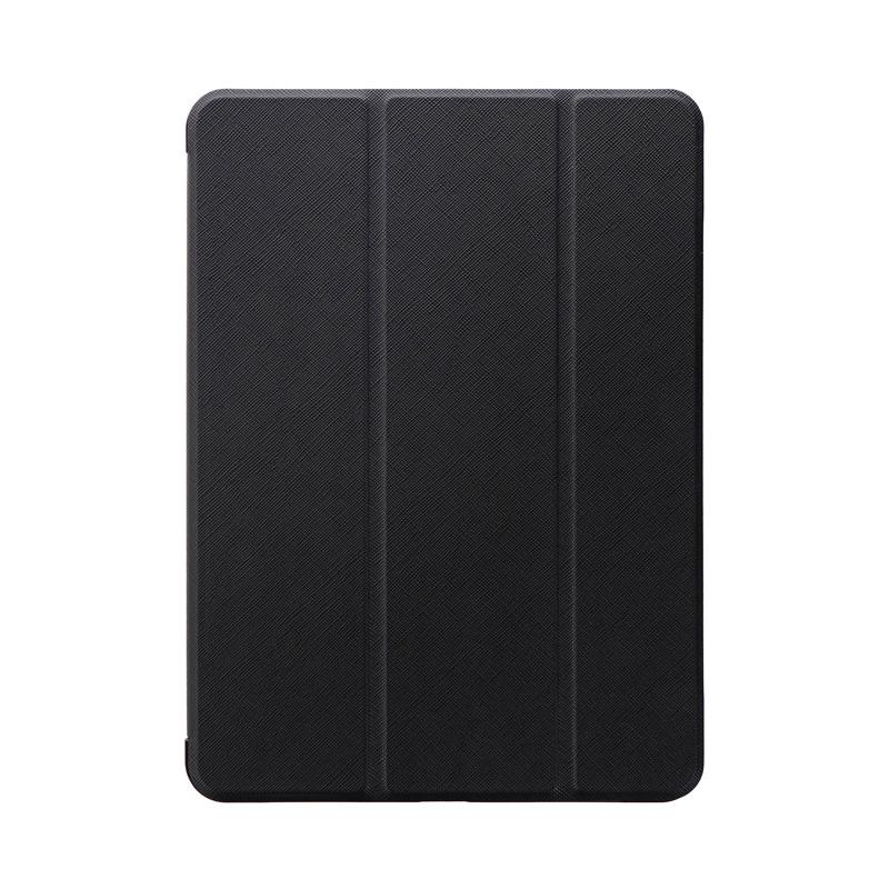 iPad Air 2020 (10.9inch) 背面クリアフラップケース「Clear Note」 ブラック