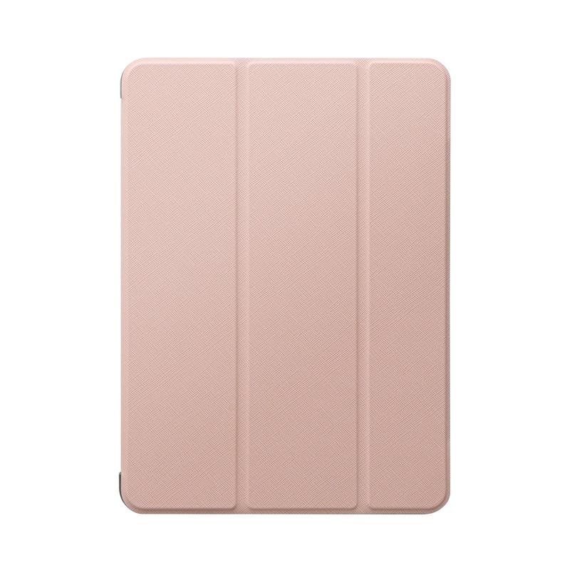 iPad Air 2020 (10.9inch) 背面クリアフラップケース「Clear Note」 ピンクベージュ