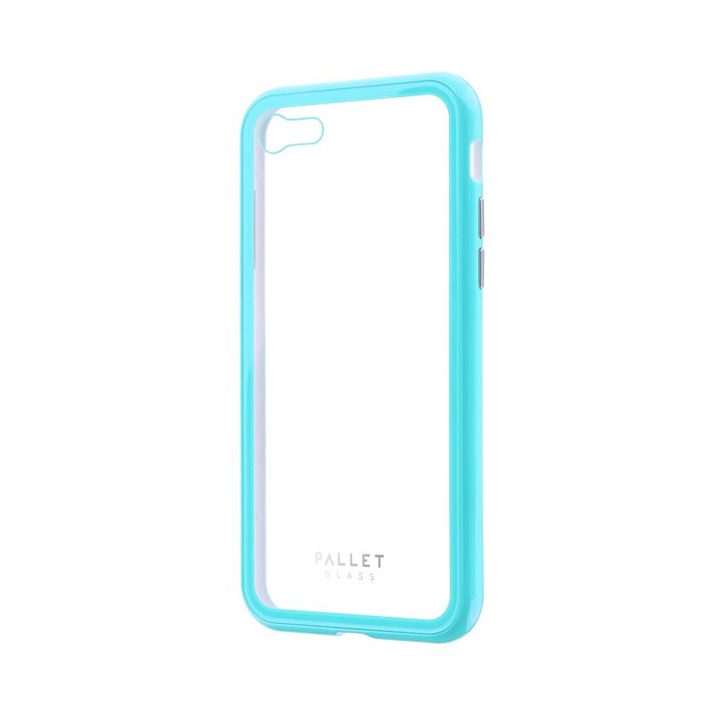 iPhone 8/7 ガラスハイブリッドケース「PALLET GLASS」 クリアミントグリーン