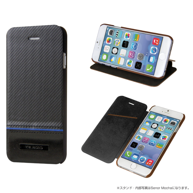 Viva Sabioコレクション Serio[セリオ] Bueno Ebony for iPhone 6(表面:Genuine leather 本革)(裏面:ポリカーボネート)