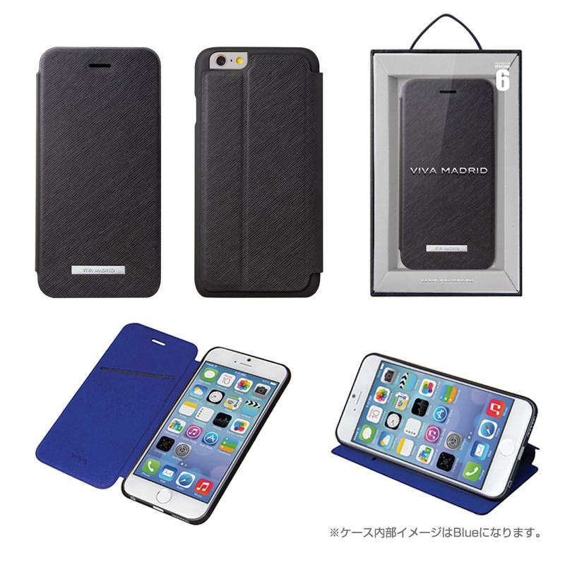 Viva Sabioコレクション Hexe[ヘス] Black for iPhone 6_6S(表面:合皮)(裏面:TPU)