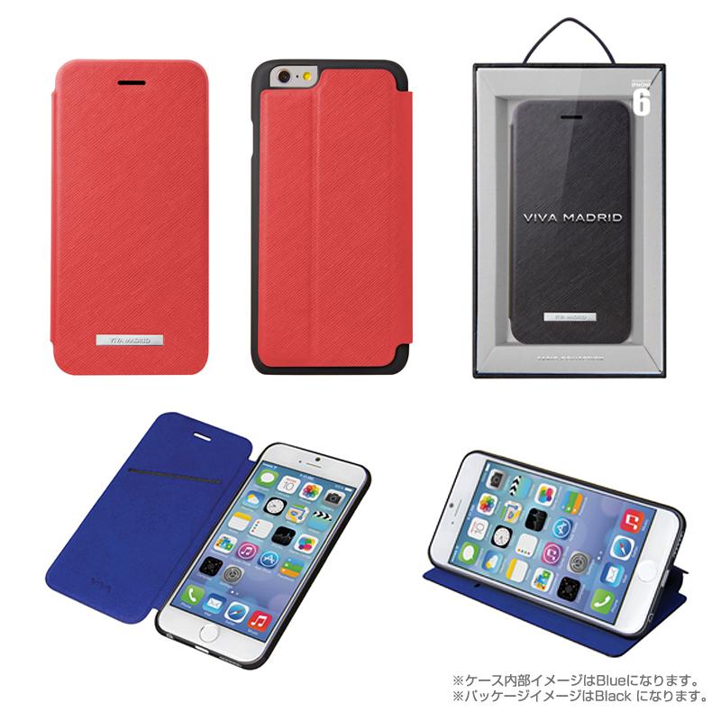 Viva Sabioコレクション Hexe[ヘス] Red for iPhone 6_6S(表面:合皮)(裏面:TPU)