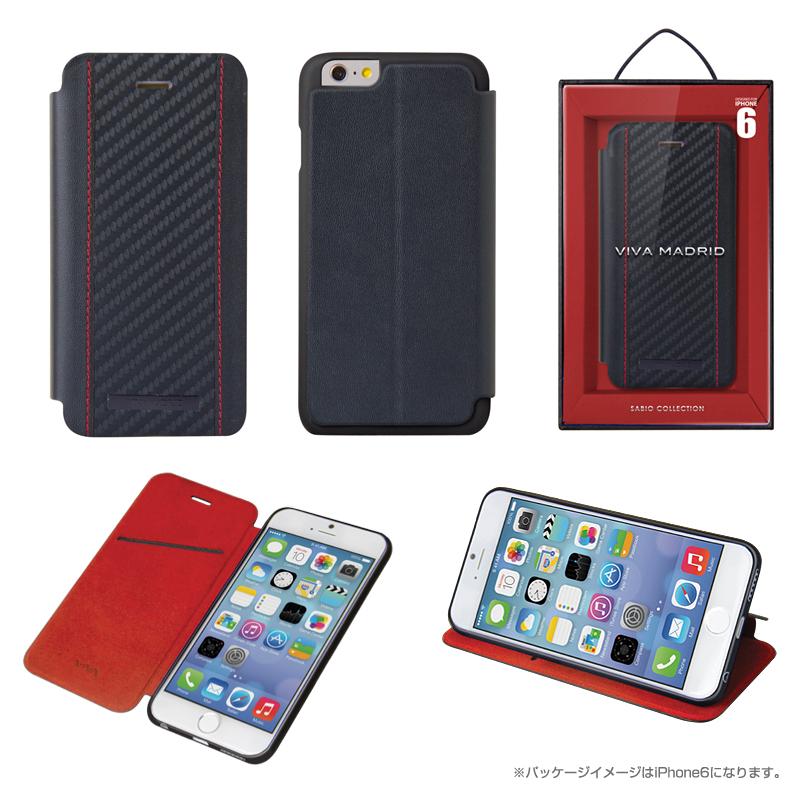 【Viva】iPhone 6Plus/Grafito(ガーフィット)/Regetta(表面:本革(※一部合皮))(裏面:TPU)