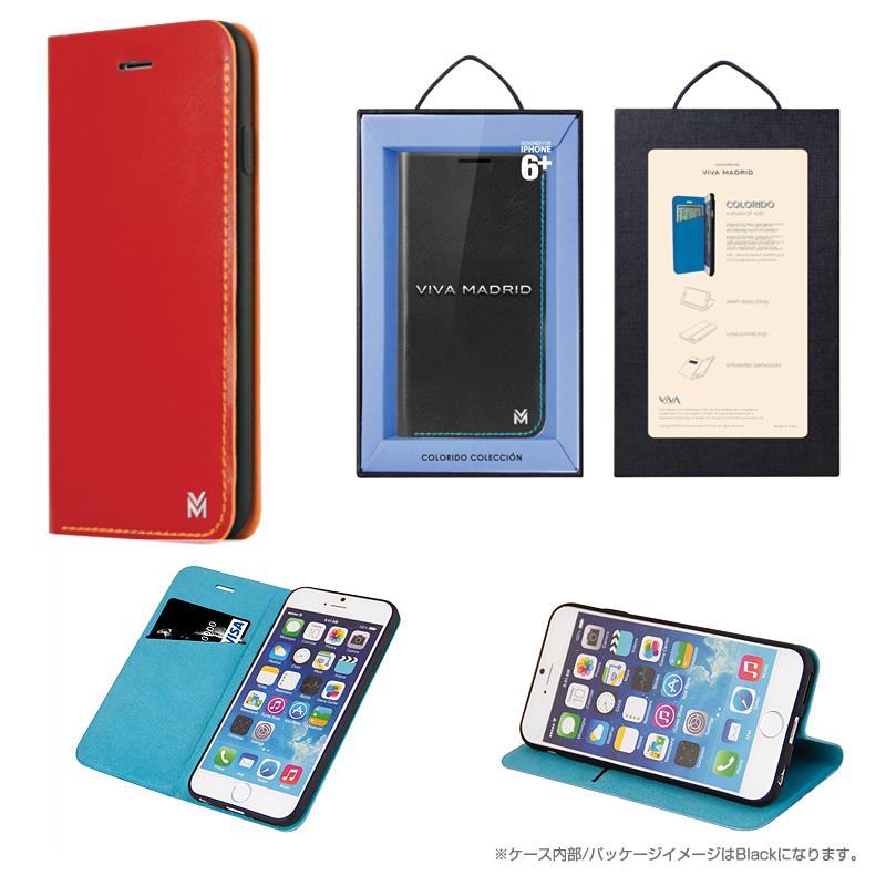 【Viva】iPhone 6Plus/Colorido(コロリド)/Carmine Squad(Red)(表面:合皮)(裏面:TPU)