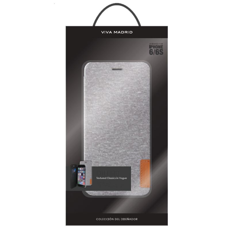 【VIVA MADRID】iPhone 6S/手帳型ケース/Colegio Collection/Colegio Dapper Ash