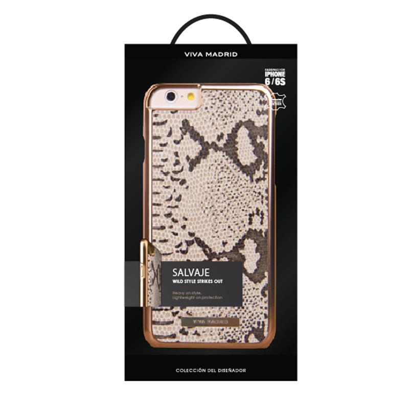 iPhone 6/6S シェル型ケース/本革/Salvaje Collection/Piton