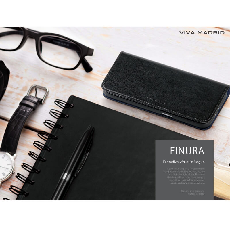 Galaxy S7 edge SC-02H/SCV33/手帳型ケース/Finura Collection/Finura Roca Night