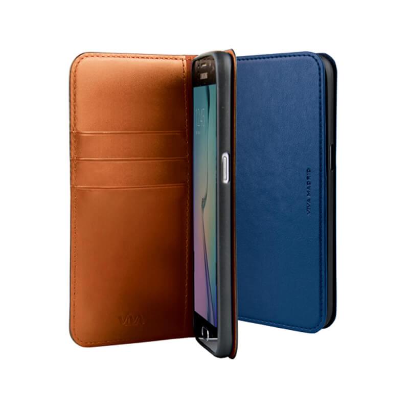 Galaxy S7 edge SC-02H/SCV33/手帳型ケース/Finura Collection/Finura Armada Navy