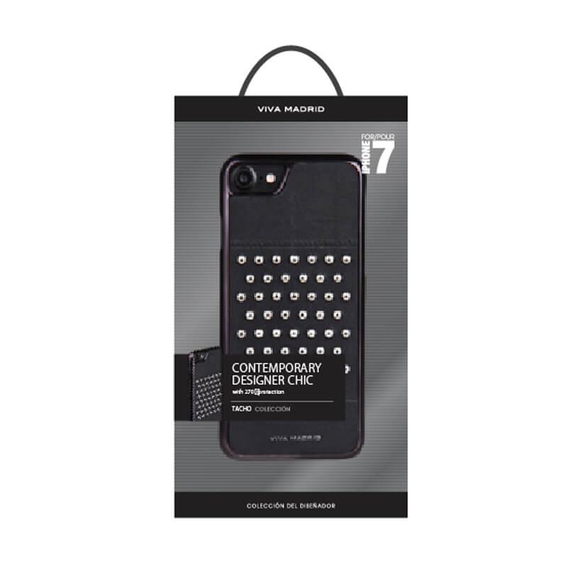 iPhone 7/シェル型ケース/スタッズ/Tacho Collection/Inked(Black)