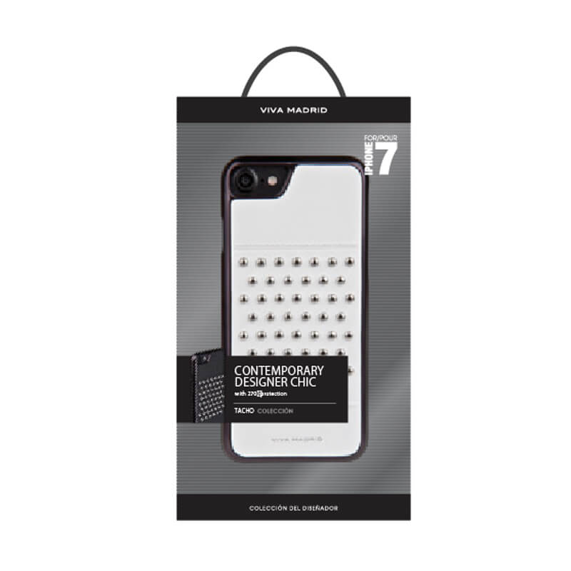 iPhone 7/シェル型ケース/スタッズ/Tacho Collection/Blanc(White)