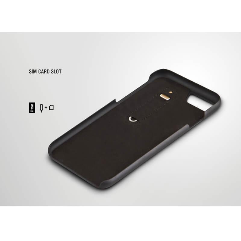 iPhone 7/シェル型ケース/手編み風/Tejido Collection/Noir(Black)
