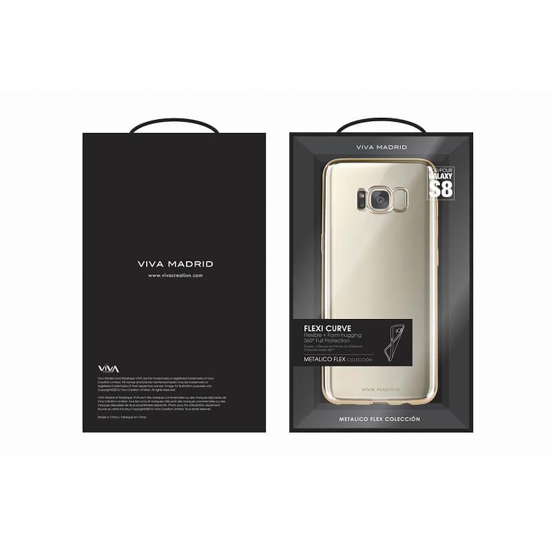 Galaxy S8 SC-02J/SCV36/シェル型ケース/メタルソフト/Metalico Flex/Champagne Gold