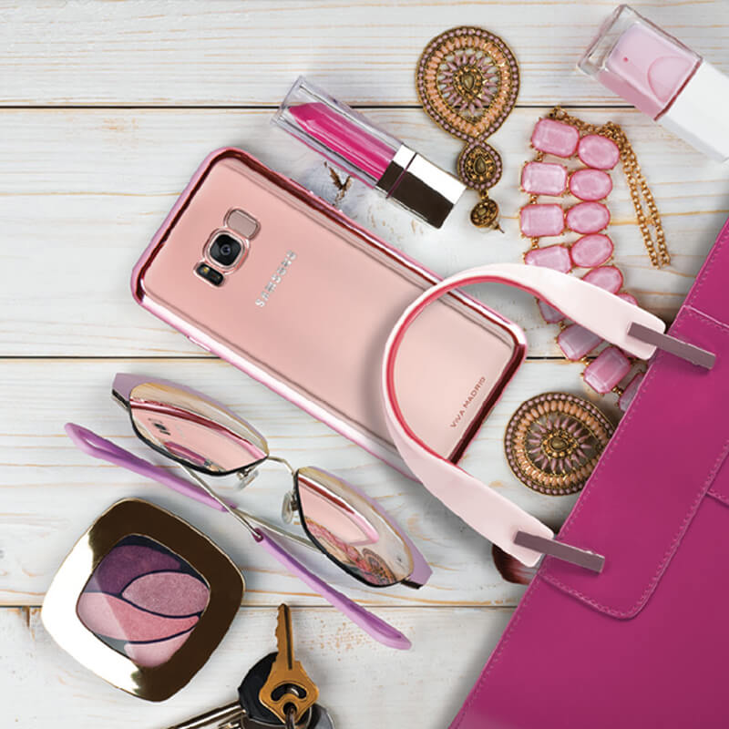 Galaxy S8+ SC-03J/SCV35/シェル型ケース/メタルソフト/Metalico Flex/Rose Gold