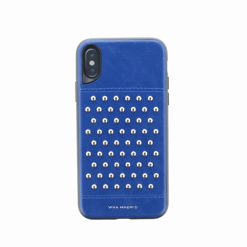 iPhone XS/iPhone X シェル型ケース/スタッズ/Tacho Collection/Cobalt(Blue)