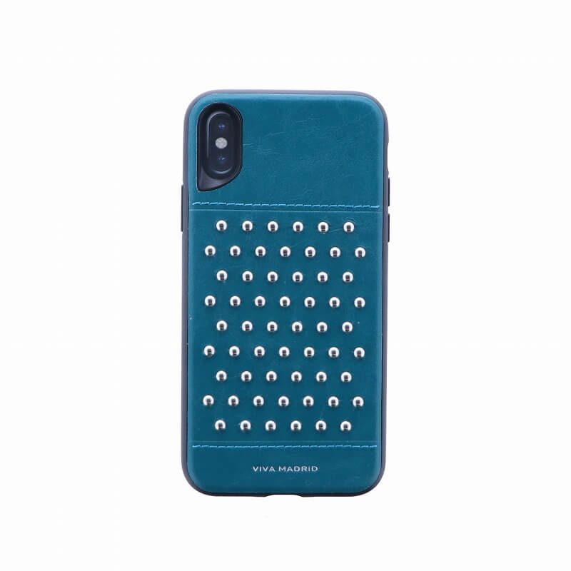 iPhone XS/iPhone X シェル型ケース/スタッズ/Tacho Collection/Teal(Green)