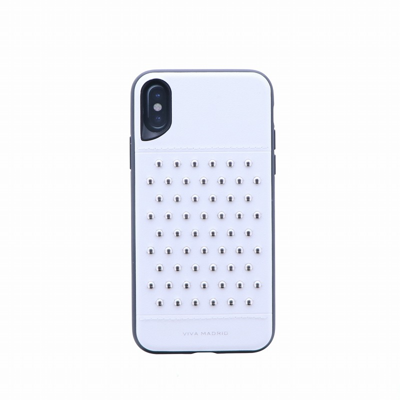 iPhone XS/iPhone X シェル型ケース/スタッズ/Tacho Collection/Blanc(White)