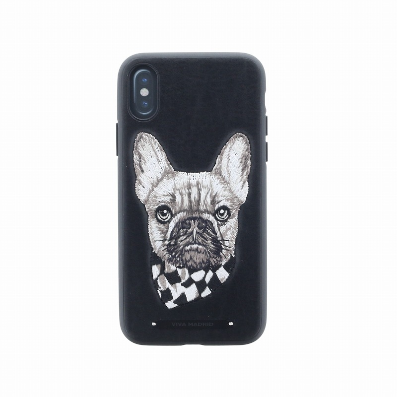 iPhone X/シェル型ケース/刺繍/Culto Collection/Pug Life