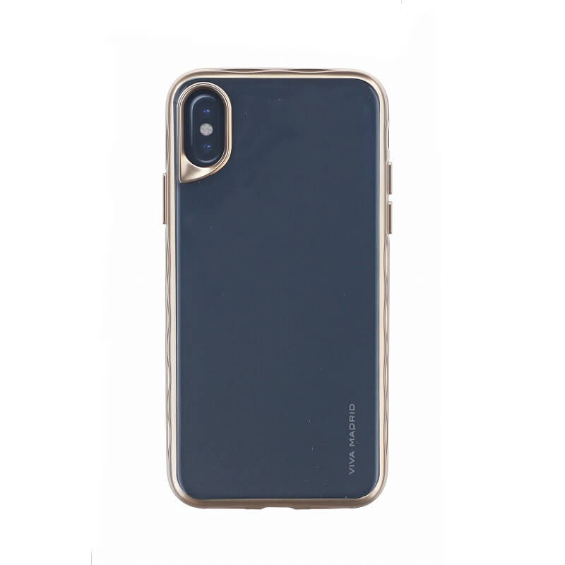 iPhone X/シェル型ケース/タフメタル/Metalico Glosa Collection/Champagne Gold