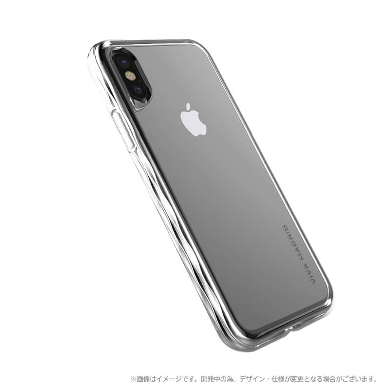 iPhone X/シェル型ケース/タフメタル/Metalico Glosa Collection/Ardent Silver