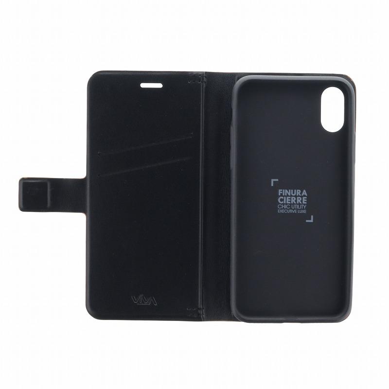 iPhone XS/iPhone X 手帳型ケース/薄型PU/Finura Cierre Collection/Brown