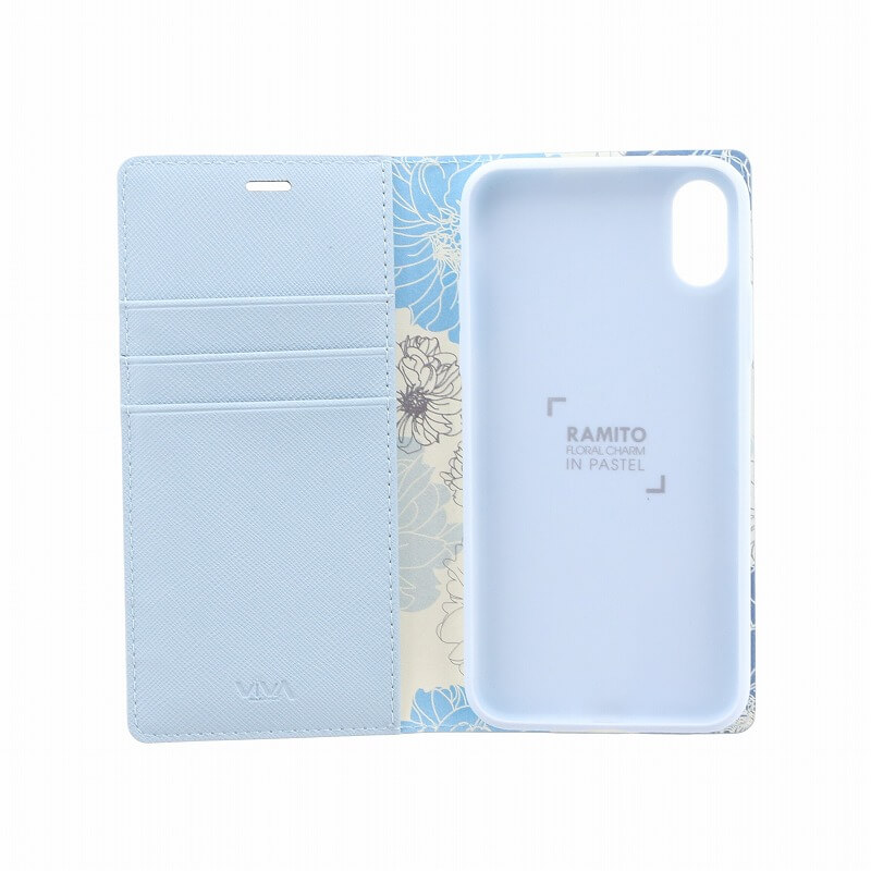 iPhone XS/iPhone X 手帳型ケース/薄型PU/Ramito Collection/Forget-me-not(Blue)