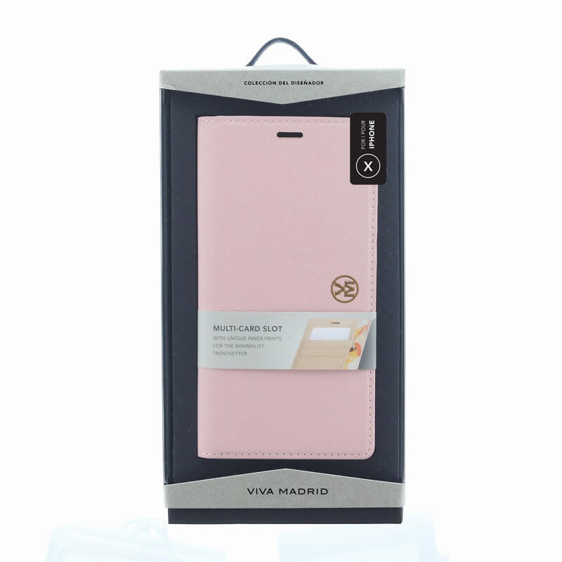 iPhone XS/iPhone X 手帳型ケース/薄型PU/Ramito Collection/Carnation(Pink)
