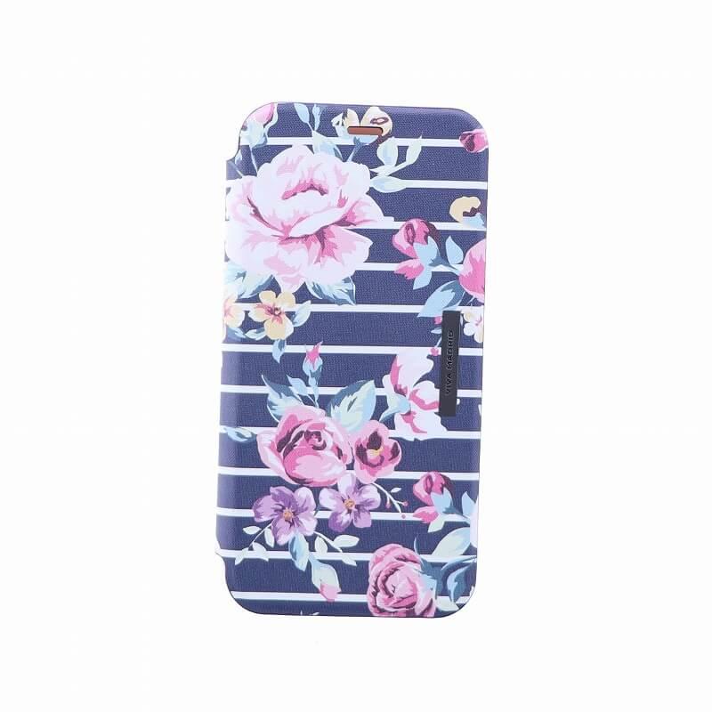 iPhone XS/iPhone X 手帳型ケース/薄型PU/Primavera Collection/Ebony(Black)