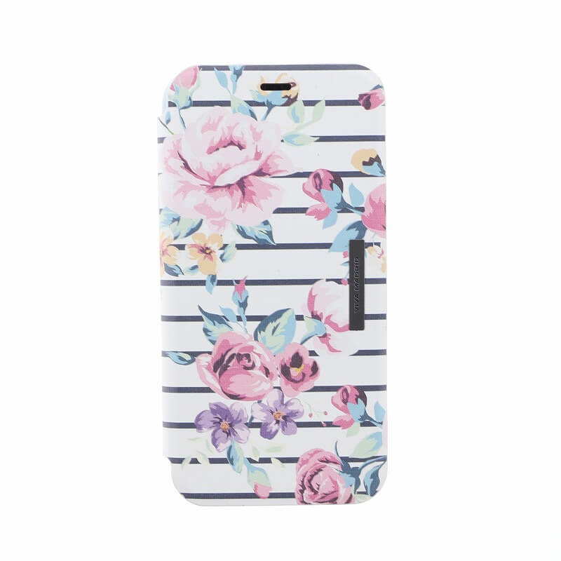 iPhone XS/iPhone X 手帳型ケース/薄型PU/Primavera Collection/Ivory(White)