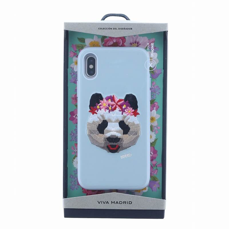 iPhone XS/iPhone X シェル型ケース/刺繍/Corona Collection/Panda