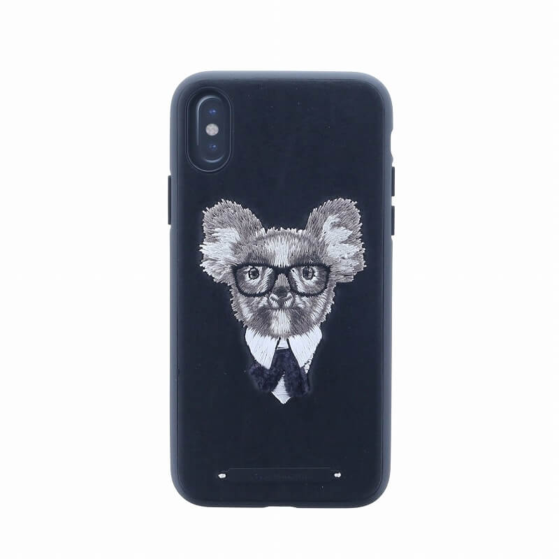 iPhone XS/iPhone X シェル型ケース/刺繍/Cuelo Collection/Koala