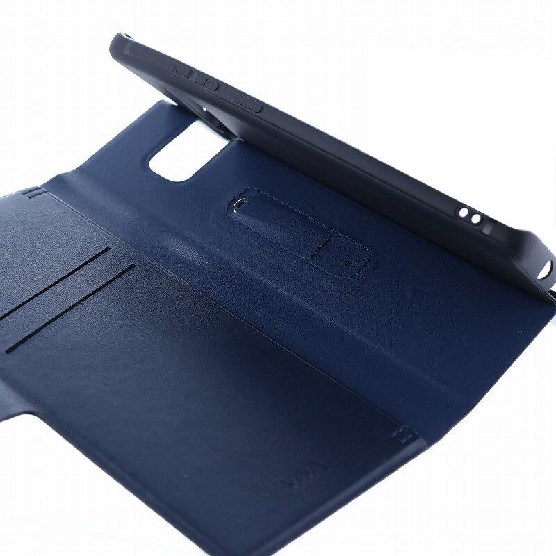 Galaxy Note8 SC-01K/SCV37/手帳型ケース/薄型PU/Finura Cierre Collection/Black