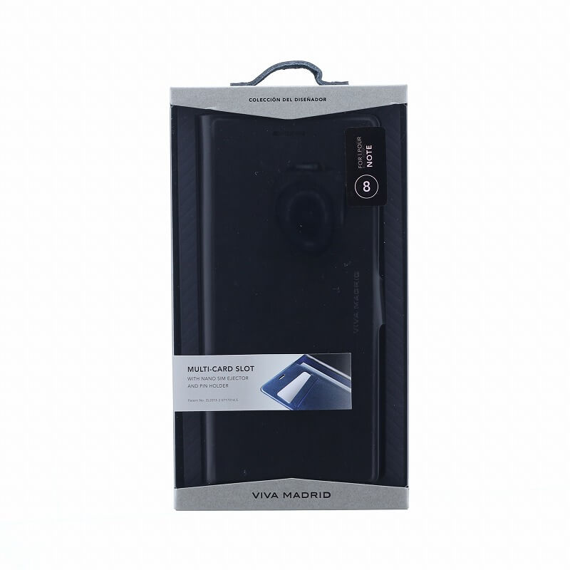 Galaxy Note8 SC-01K/SCV37/手帳型ケース/薄型PU/Finura Cierre Collection/Black