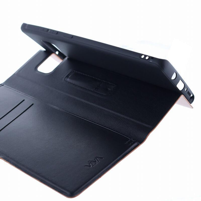 Galaxy Note8 SC-01K/SCV37/手帳型ケース/薄型PU/Finura Cierre Collection/Brown