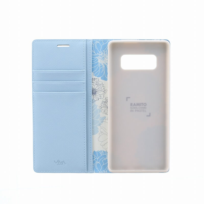 Galaxy Note8 SC-01K/SCV37/手帳型ケース/薄型PU/Ramito Collection/Forget-me-not(Blue)