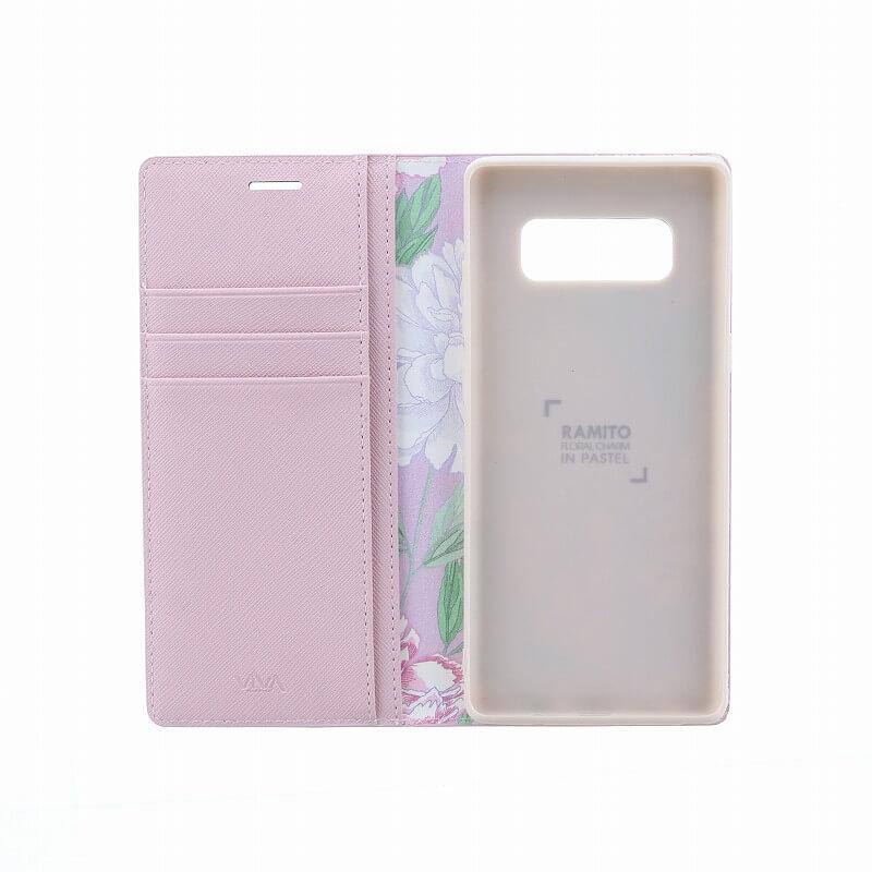 Galaxy Note8 SC-01K/SCV37/手帳型ケース/薄型PU/Ramito Collection/Carnation(Pink)