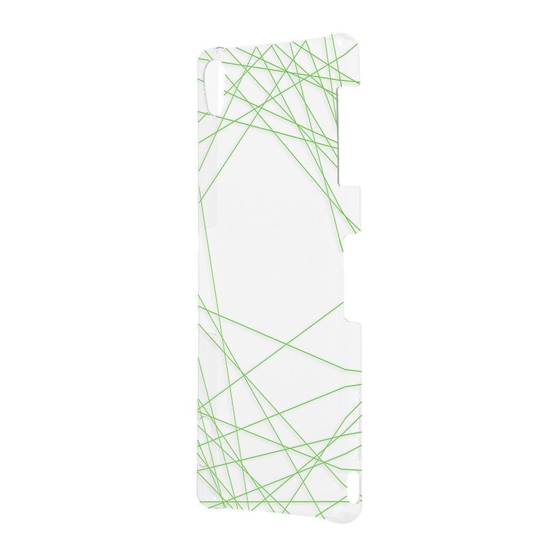 Xperia(TM) Z3 SO-01G/SOL26/401SO デザイン クリアハードケース A グリーン