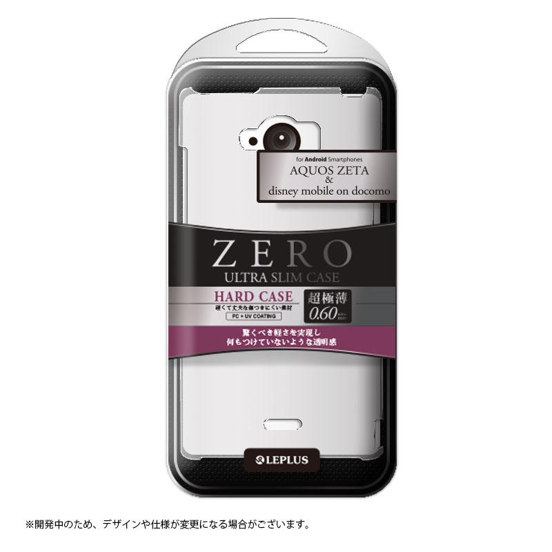 AQUOS ZETA SH-01G/disney mobile on docomo SH-02G 超極薄0.6mm ハードケース クリア