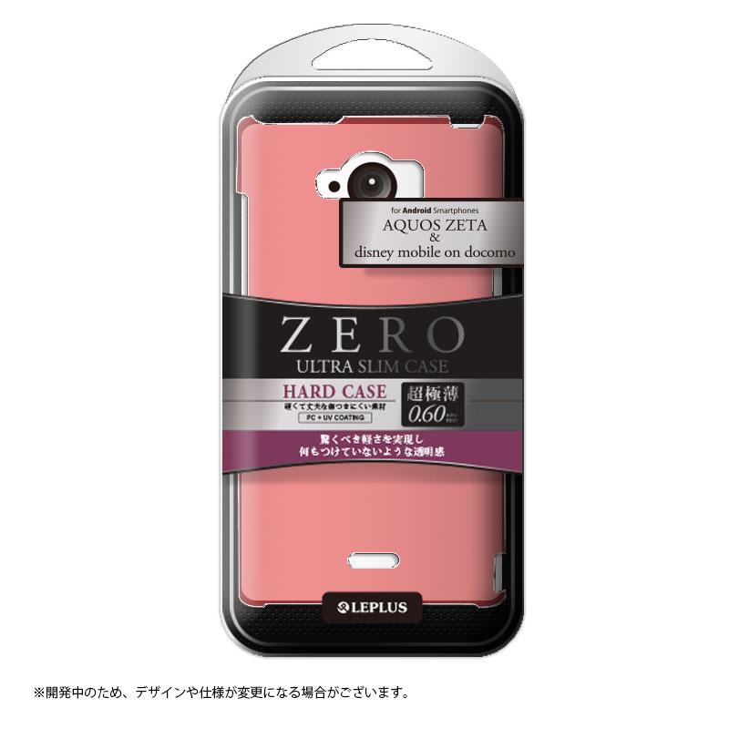 AQUOS ZETA SH-01G/disney mobile on docomo SH-02G 超極薄0.6mm ハードケース ピンク