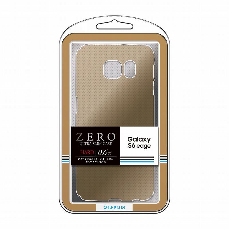 Galaxy S6 edge SC-04G/SCV31 超極薄ハードケース 「ZERO HARD」 クリアゴールド