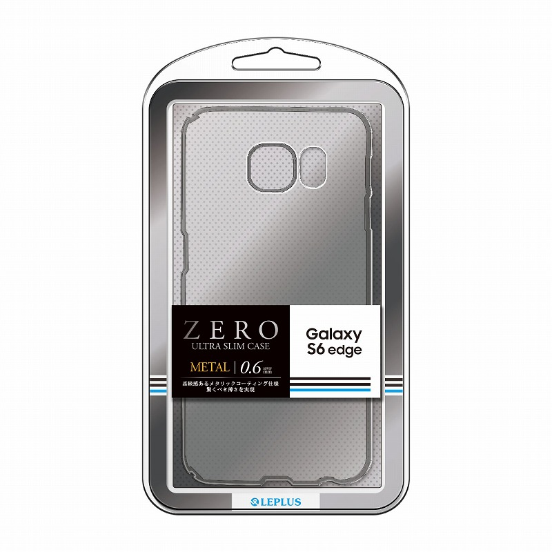 Galaxy S6 edge SC-04G/SCV31 超極薄ハードケース 「ZERO METAL」 クリア&シルバー