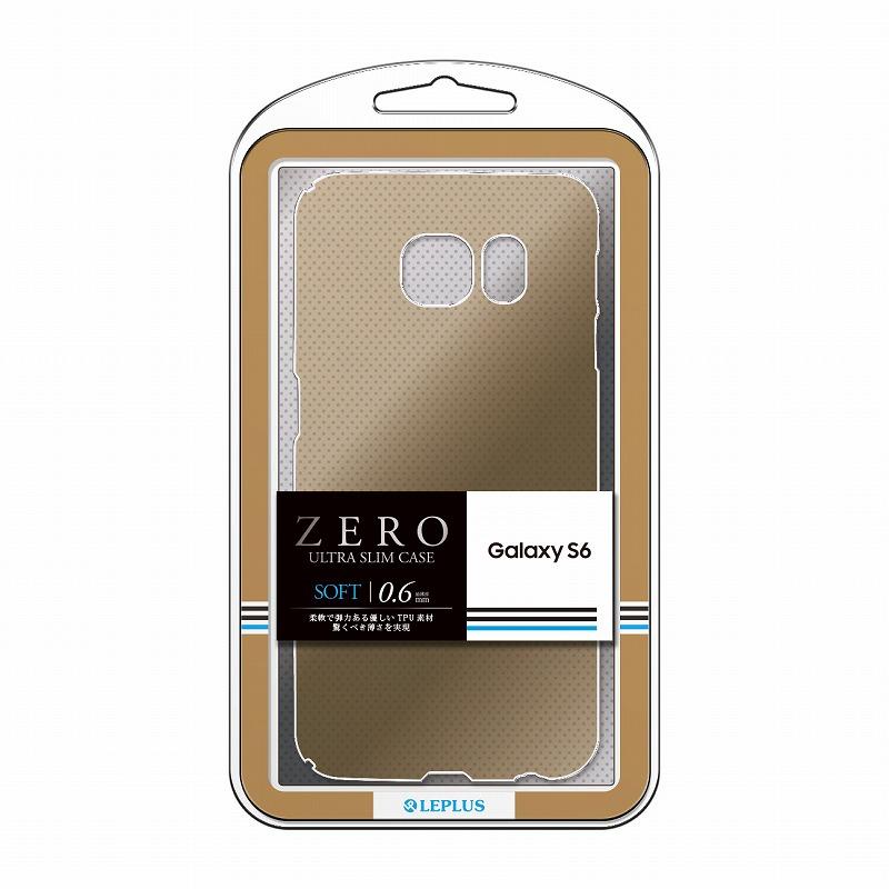 Galaxy S6 SC-05G 超極薄TPUケース 「ZERO SOFT」 クリアゴールド