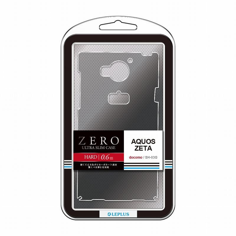 AQUOS ZETA SH-03G 超極薄ハードケース「ZERO HARD」 クリアブラック