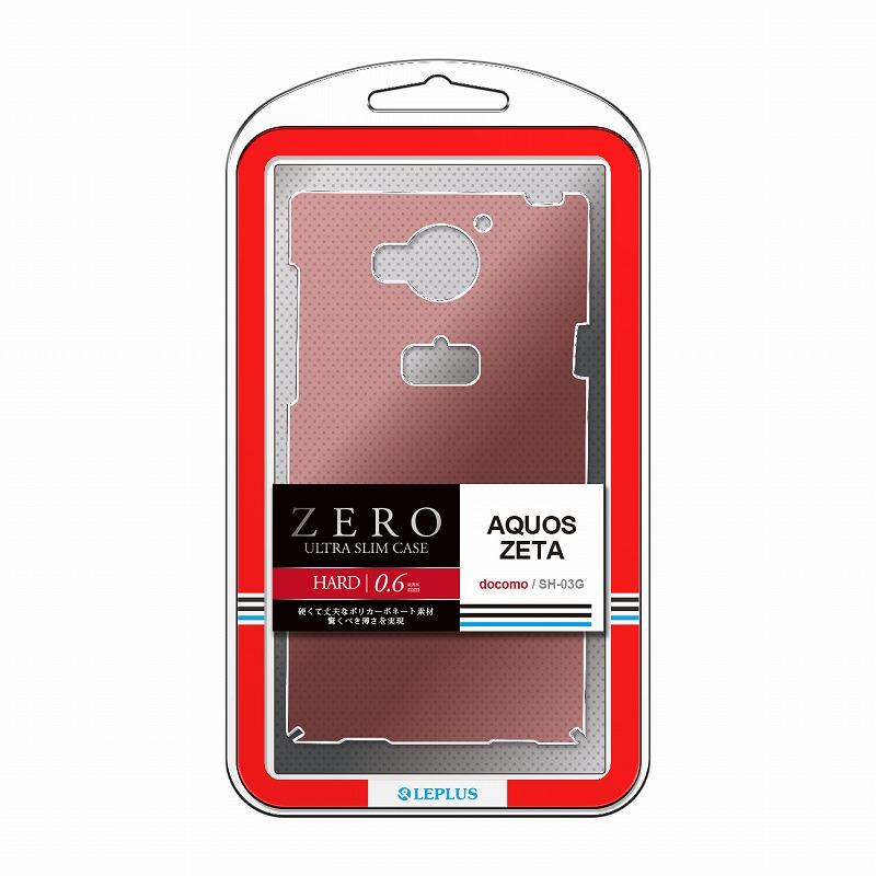 AQUOS ZETA SH-03G 超極薄ハードケース「ZERO HARD」 クリアレッド