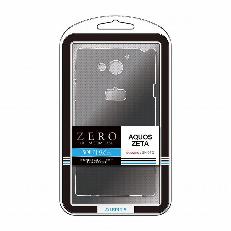 AQUOS ZETA SH-03G 超極薄TPUケース「ZERO SOFT」 クリアブラック