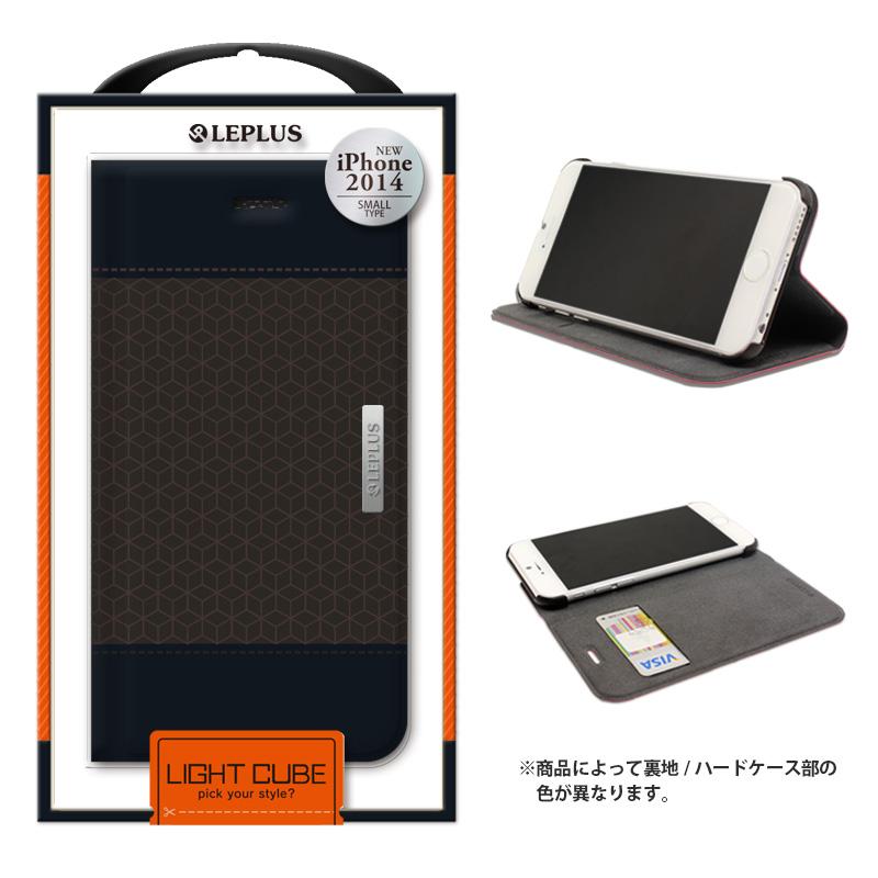 iPhone 6_6S [LIGHT CUBE] デザインPUレザーカバー ブラック