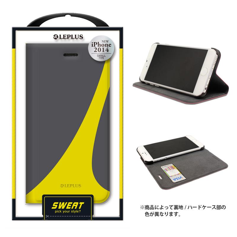 iPhone 6_6S [SWEAT] デザインPUレザーカバー グリーン
